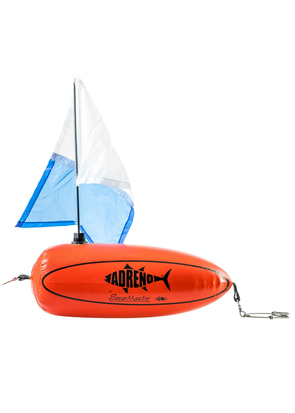 adreno bullet spearfishing float with flag