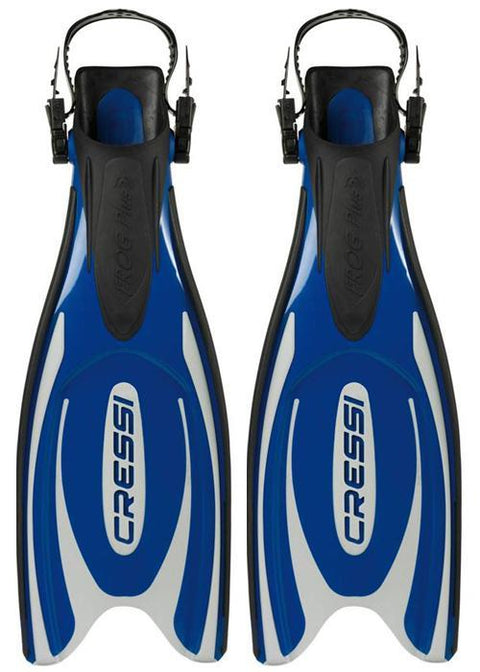 Cressi Frog Plus Fins - Silver/Blue