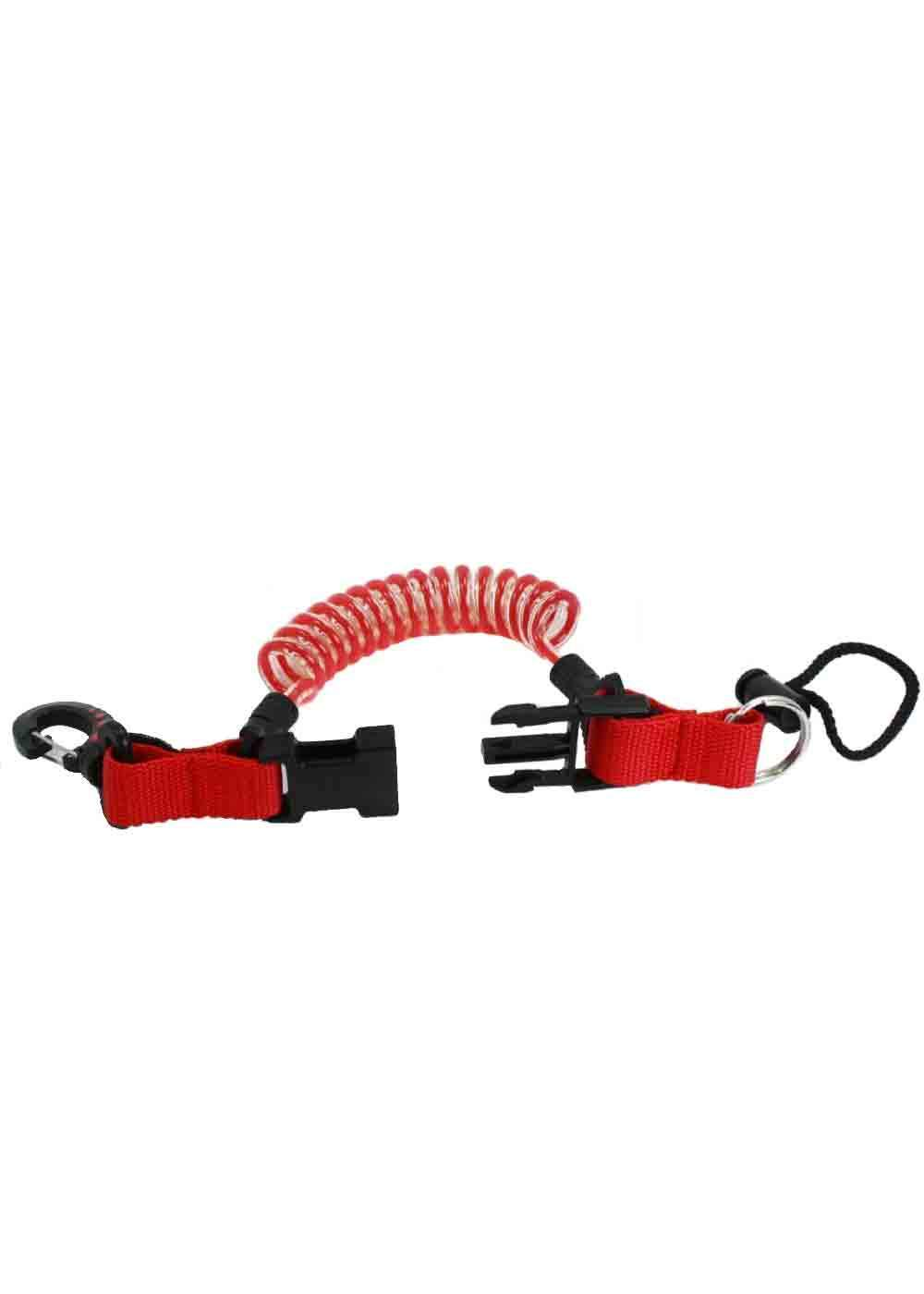 Problue Clip Shock Line Red. Deluxe Plastic Clip one end. Looped Cord other end.
