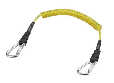 Problue H.D. shockline (wire core) double end SS Wire Gate Carabiner - Yellow