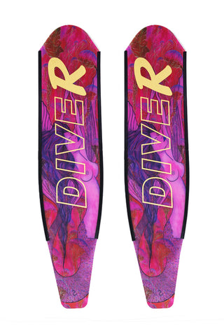 DiveR Spearfishing Blades Carbon Pink Mermaid