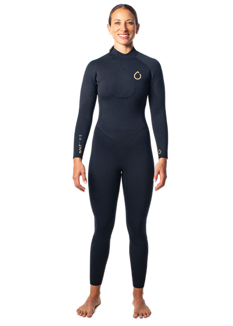SALT Womens 3/2mm Back Zip Steamer Wetsuit