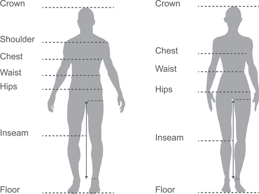 Size guide measurements
