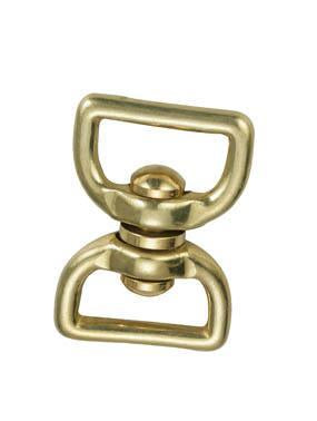 Problue Brass Swivel 55mm Squared to fit 1 inch webbing