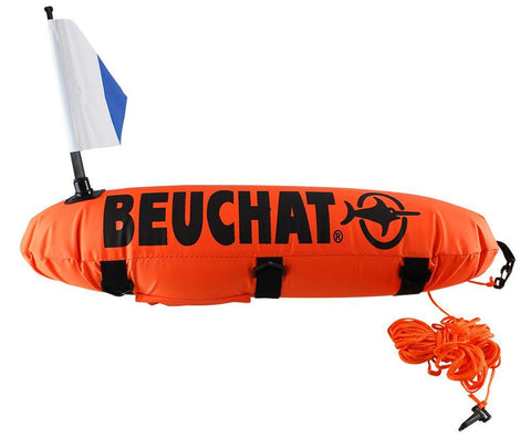 Beuchat Torpedo Float with Alpha Dive Flag