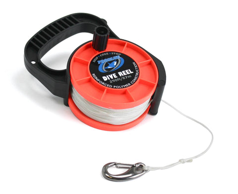 Problue 290ft (87m) Dive Reel Orange with clip