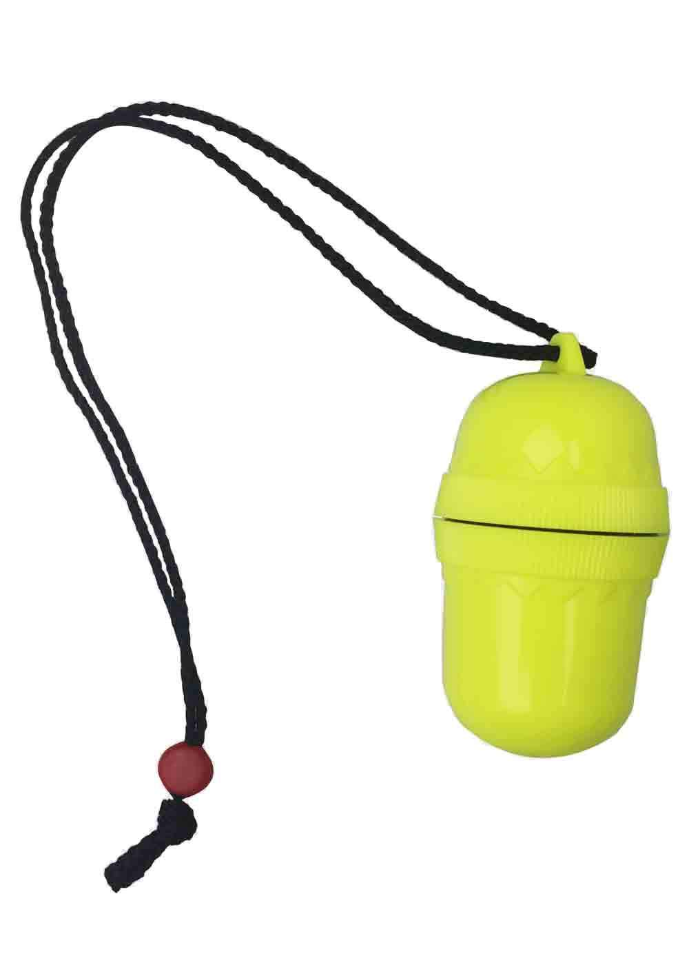Problue Plastic dry capsule with lanyard NEON YELLOW