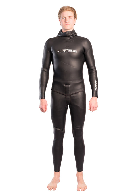 Aropec Mens 3mm Super-Stretch Freediving 2 Piece Wetsuit