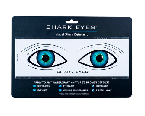Shark Eyes Clear Sticker - Medium