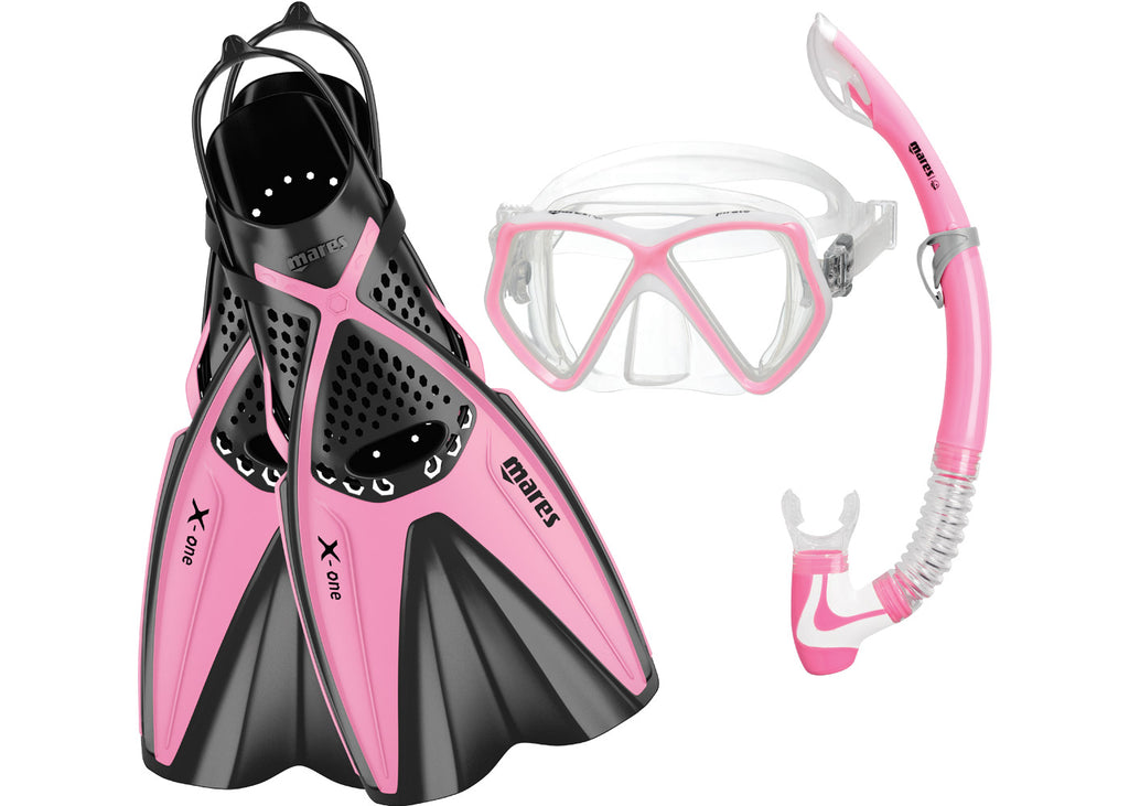 Mares Snorkeling Set Pirate X-One Pink