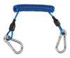 Problue H.D. shockline (wire core) double end SS Carabiner - Blue