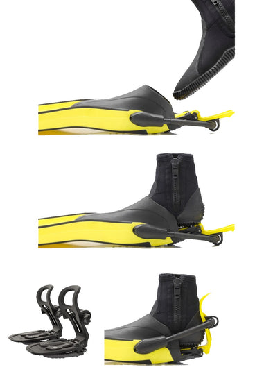Finclip Fin Bindings System Complete - Black