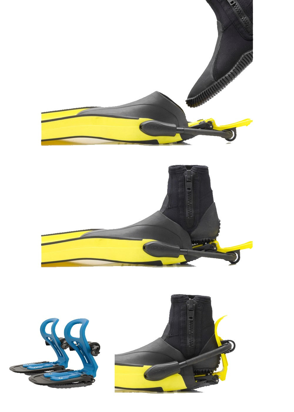 Finclip Fin Bindings System Complete - Blue