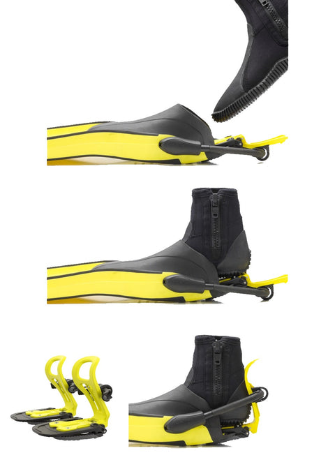 Finclip Fin Bindings System Complete - Yellow