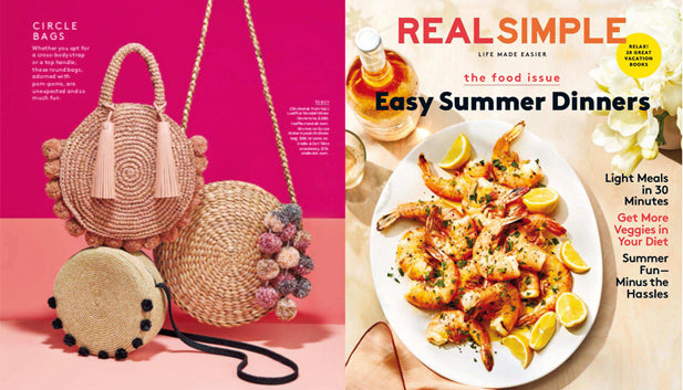 Brunna Surya Bag in REAL SIMPLE Magazine Summer, July 2018