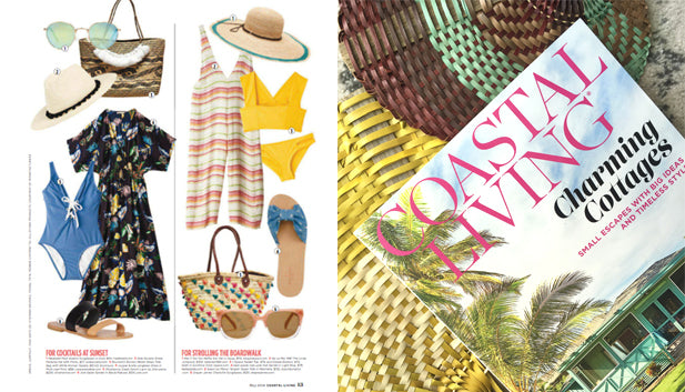 Brunna Borneo Medio Tote in COASTAL LIVING Magazine Spring 2018