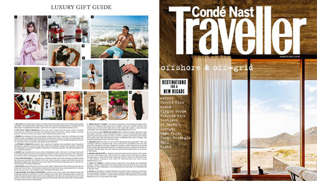 BrunnaCo in March '20 Conde Nast Traveller Magazine