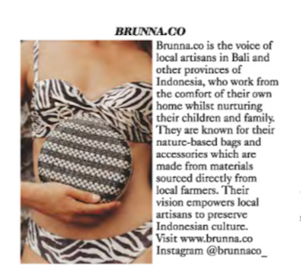 BrunnaCo in British Vogue February 2020