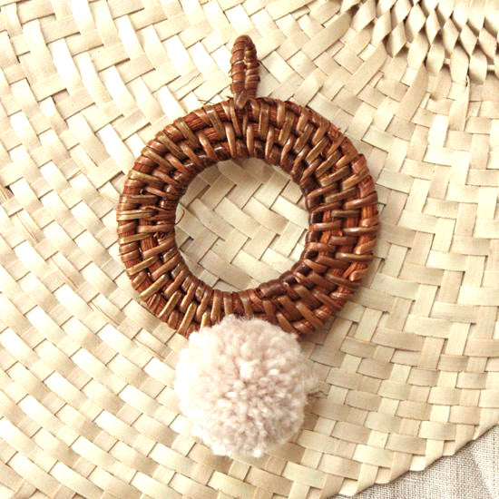 BALI X CALI Ornament - Mix Set of 4 - with Blushed Ivory Pom-pom