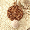 Christmas Tree Ornament Bali X Cali - Mix Set of 4 - with Blushed Ivory Pom-pom