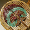 "Balinese Woven Hand Fan ""Sea Blue"""