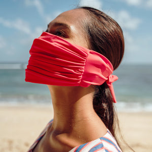 MASKANA UV50 Waterproof Gaiter Face Mask, in Chili Padi Red