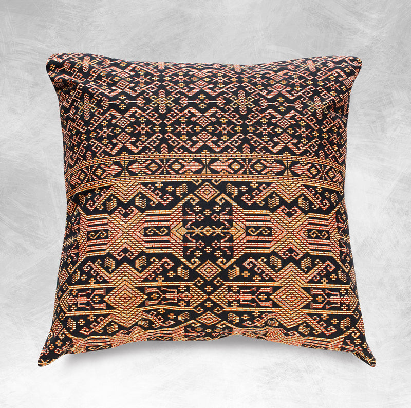 Borneo Noir Decorative Pillow Cover