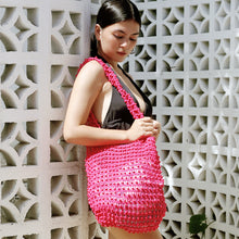 Kama Wooden Beads Bag in Dragon Fruit Pink