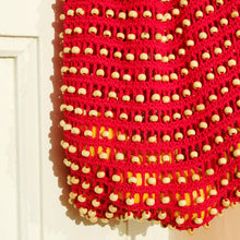Kama Wooden Beads Bag in Red