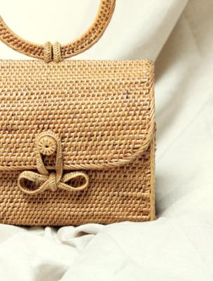 Atta Mandailing Straw Bag - Top Handle Rattan Bag - Madewell Straw Bag