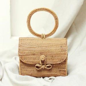Atta Mandailing Straw Bag - Top Handle Rattan Bag - Anthropologie Straw Bag