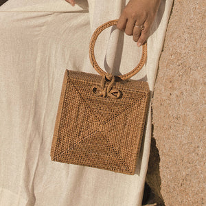 Atta Malika Straw Bag - Top Handle Rattan Bag