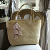 Borneo Sani Straw Tote Bag - with White Tassels