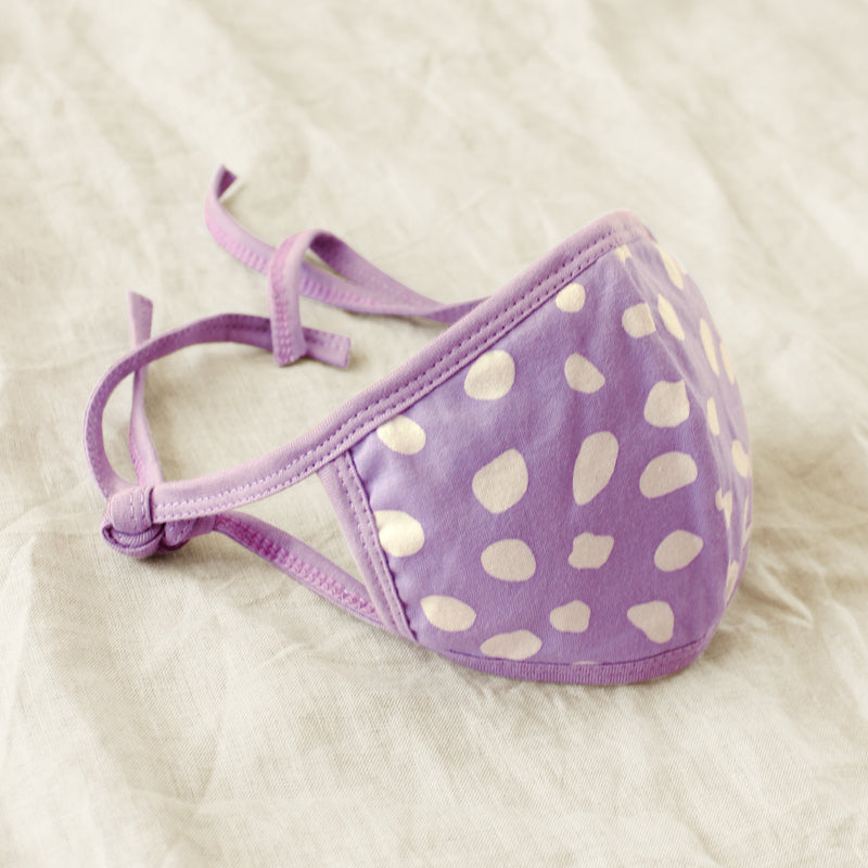 ARNOLDI 3-ply Adjustable Organic Cotton Face Mask (Waterproof), in Lilac