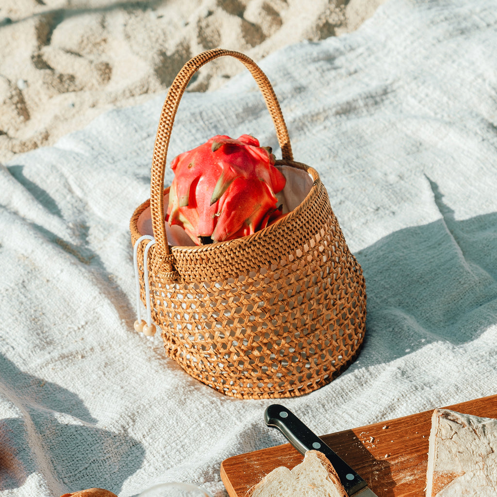 Atta Nirina Rattan Bucket Bag