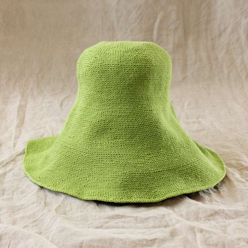 BLOOM Crochet Sun Hat, in Lime Green