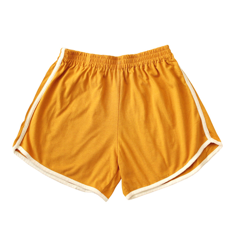 GIRL Seaside Runner Recycled Shorts, in Sunflower Yellow