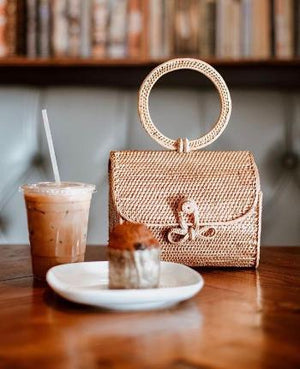 Atta Mandailing Straw Bag - Top Handle Rattan Bag - The Rustic Life