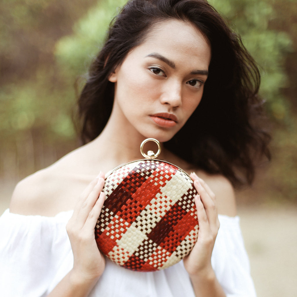 Matta Eugenia Handwoven Straw Clutch