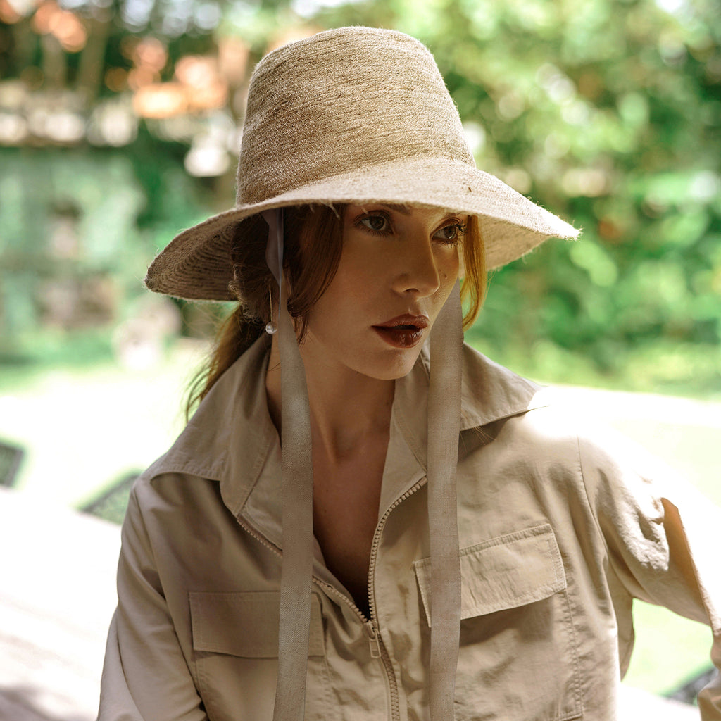 MEG Jute Straw Hat, in Nude Beige