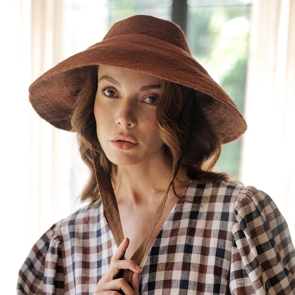 REIGN Jute Hat, in Burnt Sienna
