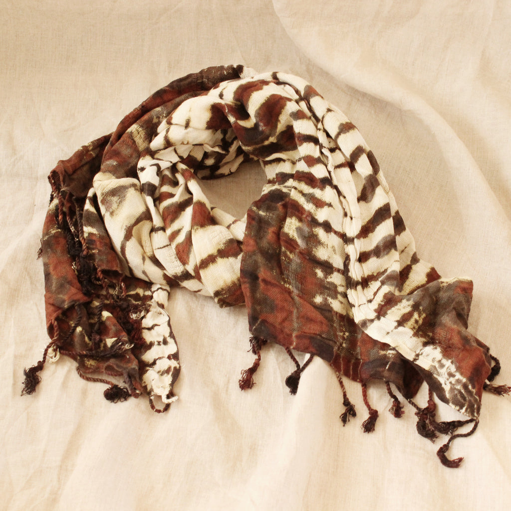 Tiger Queen Handwoven Cotton Scarf