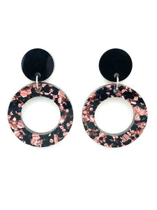 Lexie Mini Hoop ~ Rose/Blk
