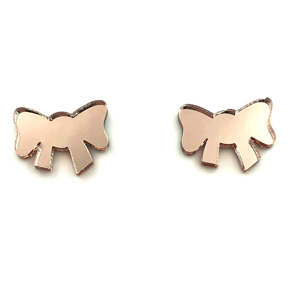 Cute Bow ~ Rose Gold Mirror