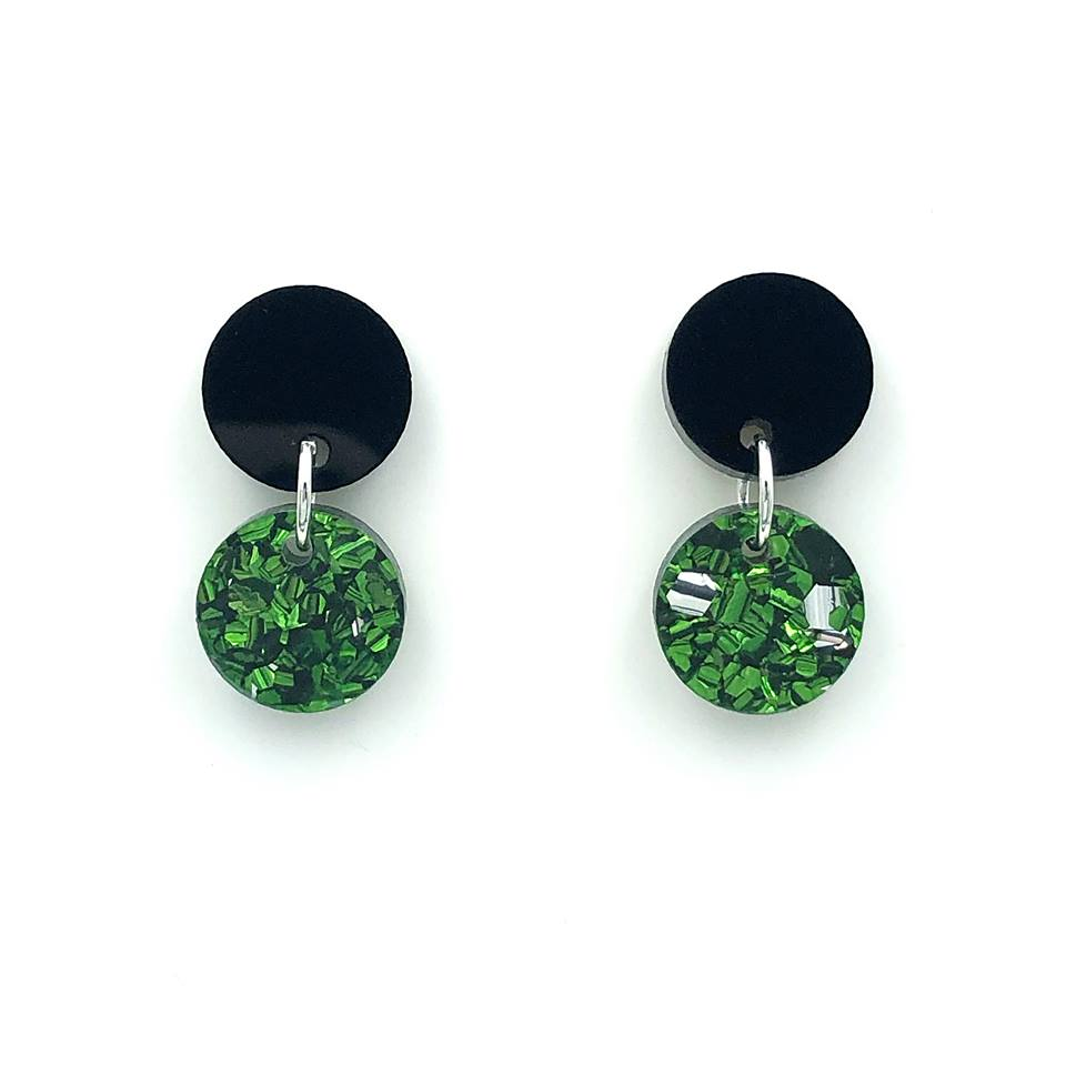 Mini Droplet ~ Black/Green (RM)