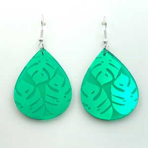 Leafy Green Dangle ~ Green Mirror (RM)