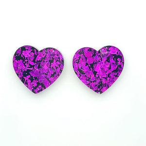 Heart Statement ~ Purple/black
