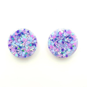 Round Resin Stud 25mm ~ Cotton Candy