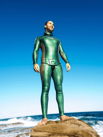 coated wetsuit smoothie skin freediving australia