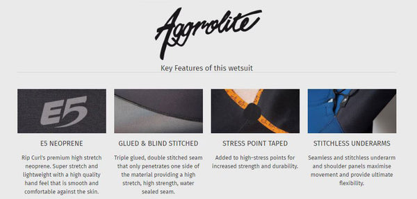rip curl aggrolite wetsuits